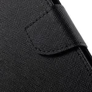 Diary štýlové peňaženkové puzdro na Samsung Galaxy J5 - čierné - 6