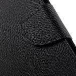 Diary štýlové peňaženkové puzdro na Samsung Galaxy J5 - čierné - 6/7