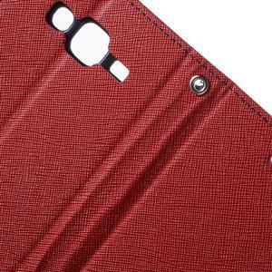 Diary štýlové peňaženkové puzdro pre Samsung Galaxy J5 -  červené - 6