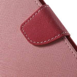 Diary štýlové peňaženkové puzdro na Samsung Galaxy J5 -  ružové - 6