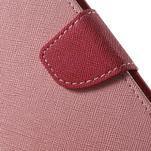 Diary štýlové peňaženkové puzdro pre Samsung Galaxy J5 -  ružové - 6/7