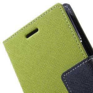 Diary štýlové peňaženkové puzdro pre Samsung Galaxy J5 -  zelené - 6
