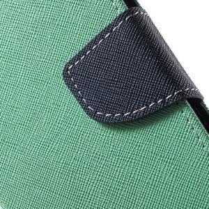 Diary štýlové peňaženkové puzdro pre Samsung Galaxy J5 -  azúrové - 6
