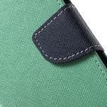 Diary štýlové peňaženkové puzdro na Samsung Galaxy J5 -  azurové - 6/7