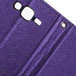 Diary štýlové peňaženkové puzdro pre Samsung Galaxy J5 -  fialové - 6/7