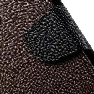 Diary štýlové peňaženkové puzdro na Samsung Galaxy J5 -  hnedé - 6