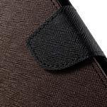 Diary štýlové peňaženkové puzdro na Samsung Galaxy J5 -  hnedé - 6/7