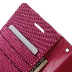 Luxury textilné/pu kožené puzdro pre Samsung Galaxy J5 - rose - 6