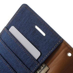 Luxury textilní/pu kožené puzdro na Samsung Galaxy J5 -  modré - 6