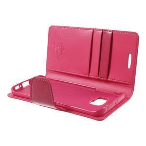 Wallet PU kožené puzdro pre Samsung Galaxy S6 Edge G925 -  rose - 6