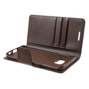 Wallet PU kožené puzdro pre Samsung Galaxy S6 Edge G925 -  tmavohnedé - 6