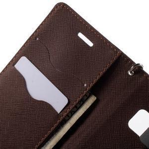 Diary PU kožené puzdro pre Samsung Galaxy S6 Edge - čierne/hnede - 6