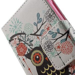 Vzorové peňaženkové puzdro na Samsung Galaxy Xcover 3 - sova - 6