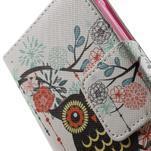 Vzorové peňaženkové puzdro na Samsung Galaxy Xcover 3 - sova - 6/7