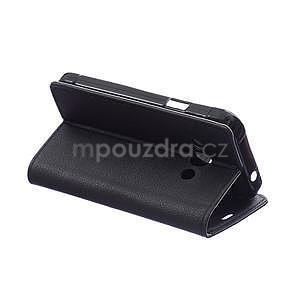 Peňaženkové pu kožené puzdro na Samsung Galaxy Xcover 3 - čierne - 6