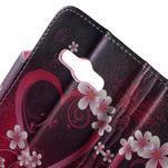 Vzorové peňaženkové puzdro na Samsung Galaxy Xcover 3 - srdce - 6/7