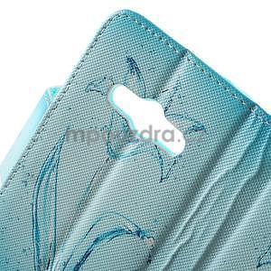 Vzorové peňaženkové puzdro na Samsung Galaxy Xcover 3 - vodný kvet - 6
