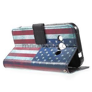 Štýlové peňaženkové puzdro pre Samsung Galaxy Xcover 3 -  US vlajka - 6