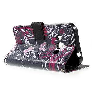 Štýlové peňaženkové puzdro pre Samsung Galaxy Xcover 3 - motýle - 6