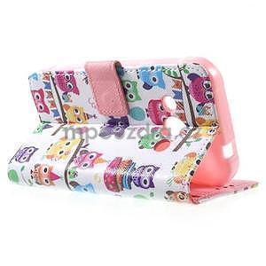 Štýlové peňaženkové puzdro pre Samsung Galaxy Xcover 3 - sovičky - 6