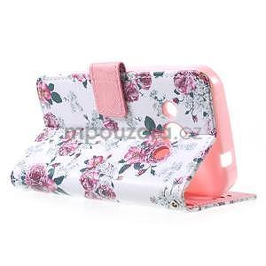 Štýlové peňaženkové puzdro pre Samsung Galaxy Xcover 3 - kvetinová koláž - 6