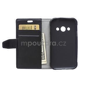 Čierne koženkové puzdro Samsung Galaxy Xcover 3 - 6