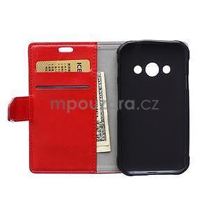 Červené koženkové puzdro Samsung Galaxy Xcover 3 - 6