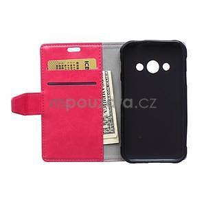 Rose koženkové puzdro Samsung Galaxy Xcover 3 - 6