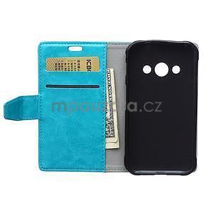 Modré koženkové puzdro Samsung Galaxy Xcover 3 - 6