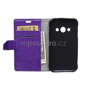 Fialové koženkové puzdro Samsung Galaxy Xcover 3 - 6
