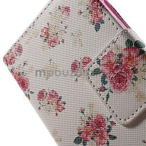 Vzorové peňaženkové puzdro na Samsung Galaxy Xcover 3 - kvety - 6