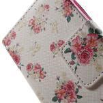 Vzorové peňaženkové puzdro na Samsung Galaxy Xcover 3 - kvety - 6/7