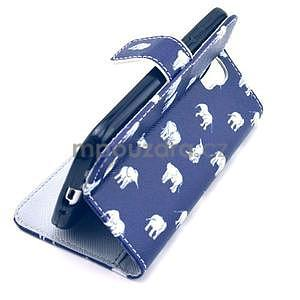 Pěněženkové pouzdro na Samsung Galxy S4 - sloni pro štěstí - 6