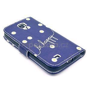 Peňaženkové puzdro pre Samsung Galaxy S4 - kvietky be happy - 6