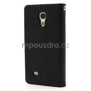 PU kožené peňaženkové puzdro pre Samsung Galaxy S4 mini - hnedé/čierne - 6