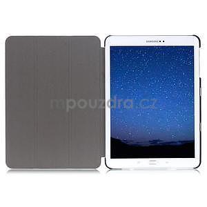 Trifold polohovateľné púzdro na Samsung Galaxy Tab S2 9.7 - tmavomodré - 6