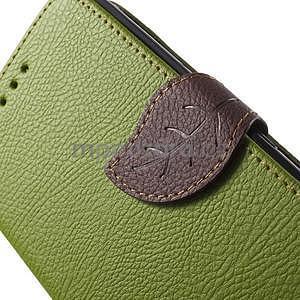 PU kožené lístkové pouzdro pro Sony Xperia E4 - zelené - 6