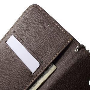 PU kožené lístkové pouzdro pro Sony Xperia E4 - černé - 6