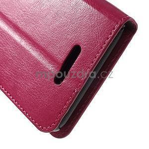 PU kožené pěněženkové pouzdro na mobil Sony Xperia E4 - rose - 6