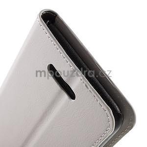 PU kožené pěněženkové pouzdro na mobil Sony Xperia E4 - bílé - 6