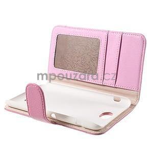 Koženkové pouzdro pro Sony Xperia E4 - růžové - 6
