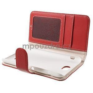 Koženkové puzdro pre Sony Xperia E4 - červené - 6