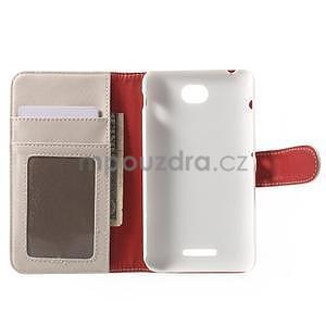 Koženkové pouzdro pro Sony Xperia E4 - bílé - 6