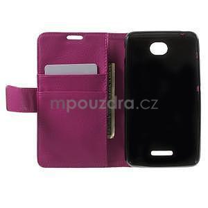 PU kožené Peňaženkové puzdro pre Sony Xperia E4 - rose - 6