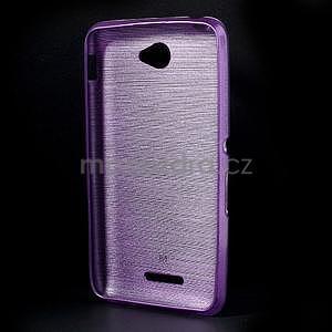 Brúsený gélový obal pre Sony Xperia E4 - fialový - 6