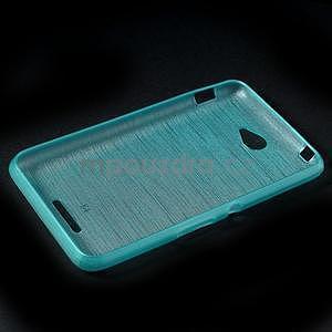 Brúsený gélový obal pre Sony Xperia E4 - tyrkysový - 6