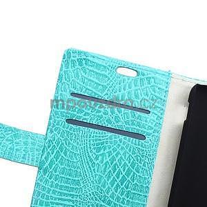 Puzdro s krokodílím vzoromna Sony Xperia E4 - tyrkysové - 6