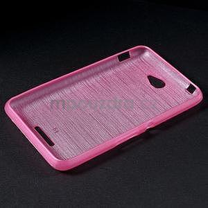 Broušený gelový obal pro Sony Xperia E4 - rose - 6