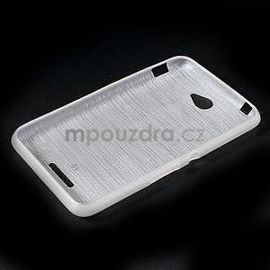 Brúsený gélový obal pre Sony Xperia E4 - biely - 6