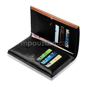 Leathy PU kožené univerzálne puzdro na mobil do 175 x 98 mm - hnedé - 6